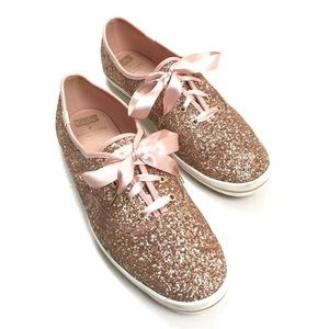KEDS Kate Spade ♠️ rose gold glitter sneakers